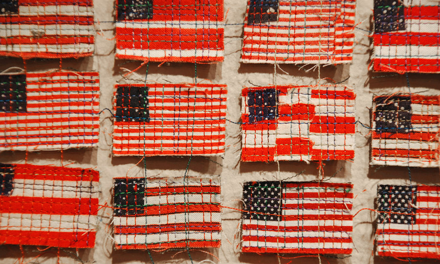 flag quilt by Kathleen Loomis