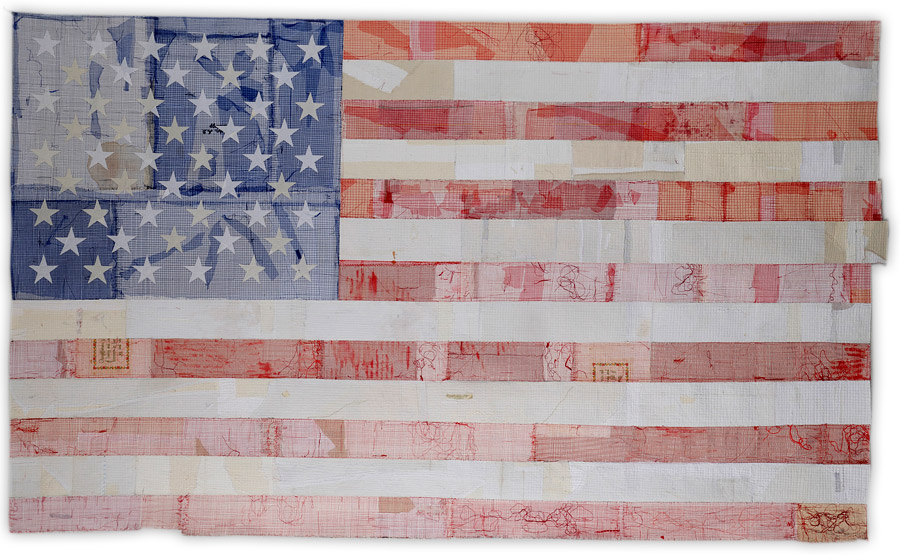flag quilt by Kathy Loomis