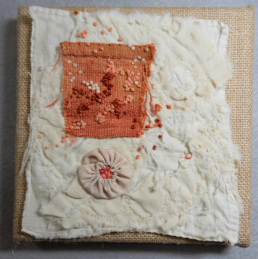 Hand stitching by Kathleen Loomis
