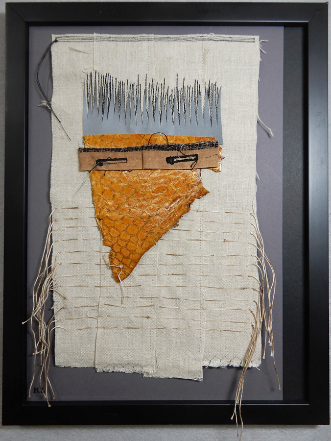 Hand stitched art by Kathleen Loomis
